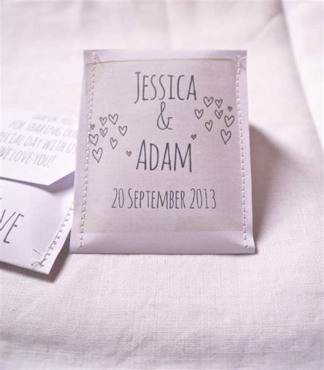 Wedding Favors Tea Bags by Doodle Wedding Tea Bag Favour A Pack Of 10 By Mae
