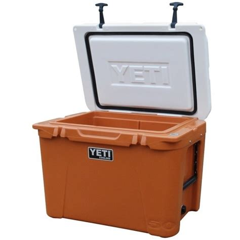 yeti coolers colors yeti tundra 50 cooler team colors burnt orange and white