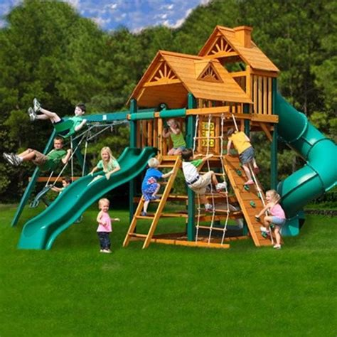 gorilla wooden swing sets gorilla playsets big skye i wood swing set contemporary