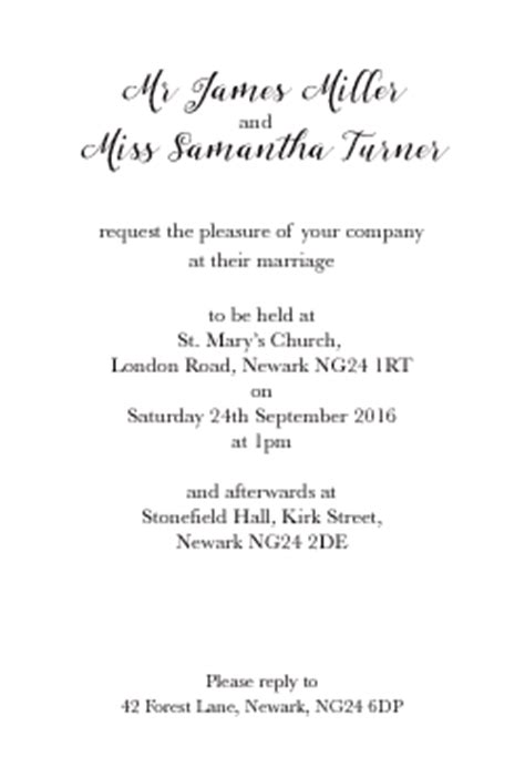 wedding invitation inserts wording wording suggestions and choices for the inserts on your wedding stationery