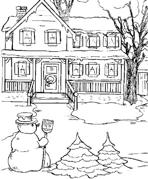 snowy house coloring pages the state house in snow day coloring pages winter