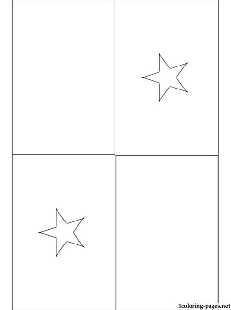 panama flag coloring page coloring pages