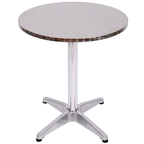Aluminium Bistro Table Homcom Aluminium Bistro Table Adjustable Bar Table On Onbuy
