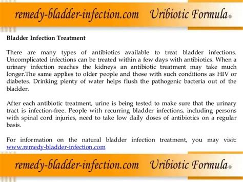 bladder infection treatment bladder infection causes and standard treatment