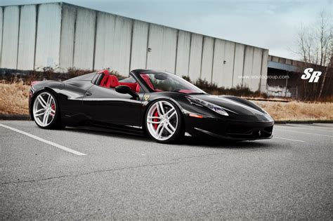wheels ferrari nero daytona ferrari 458 spider with pur wheels by sr auto