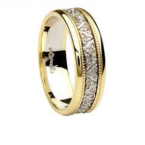 two tone mens wedding rings