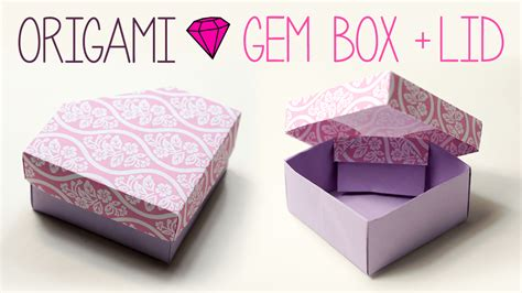 Origami Box With Lid Printable - origami gem box lid tutorial diagram paper kawaii
