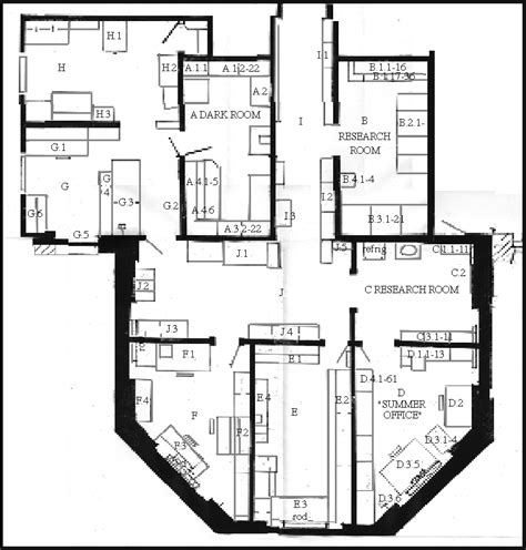laboratory floor plan inventory