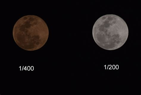 why does the moon change colors should changing the shutter speed affect the moon s color