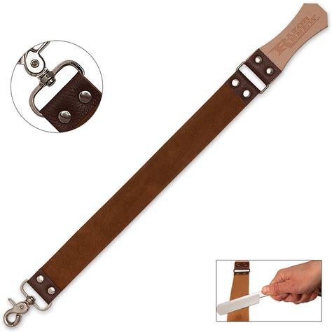 how to sharpen razor with strop razor renew leather sharpening strop budk