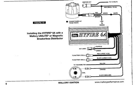 mallory comp 9000 wiring diagram with msd 6al image album