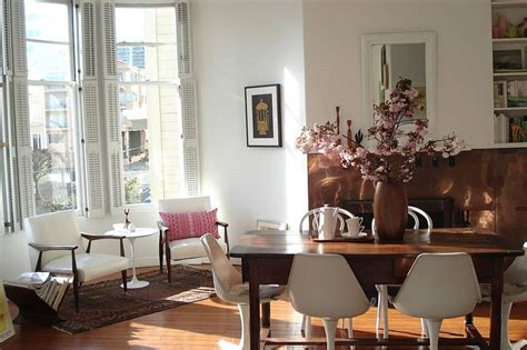 eclectic dining room  sfgirlbybay wooden dining tables