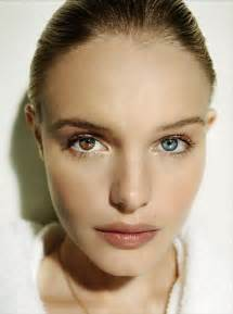 person with two different colored kate bosworth beautiful green and