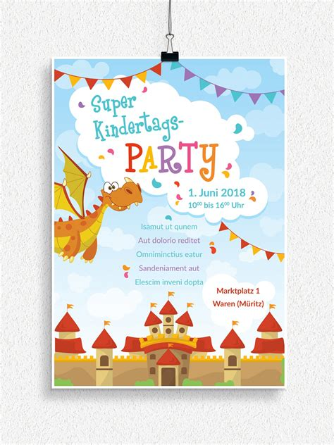 Vorlage Word Plakat Flyer Vorlagen Zum Neptunfest Und Kindertag Psd Tutorials De Shop