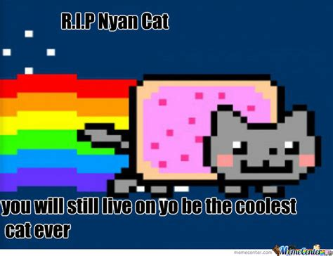 Nyan Meme - r i p nyan cat by recyclebin meme center