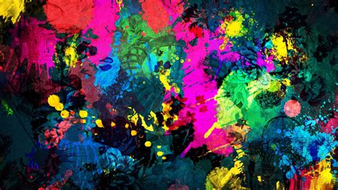 abstract mixed paint colors wallpaper free wallpapers