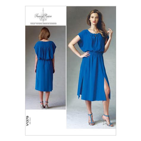 pattern fabric dress vogue misses dress pattern v1379 size a50 discount