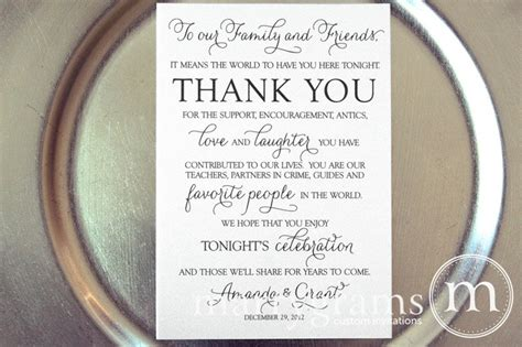 reception thank you card template thank you sign wedding reception and receptions on