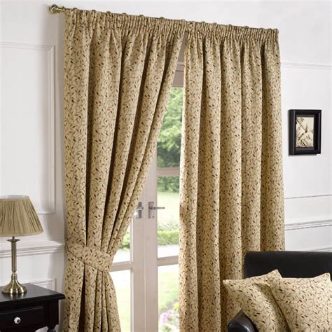 floral pencil pleat curtains living room bedroom ready harrogate woven tapestry floral 3 quot pencil pleat lined