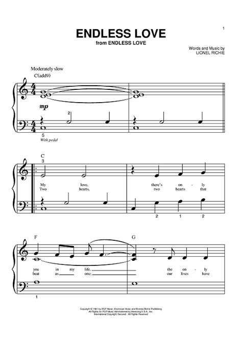 endless love sheet music music for piano and more endless love sheet music music for piano and more