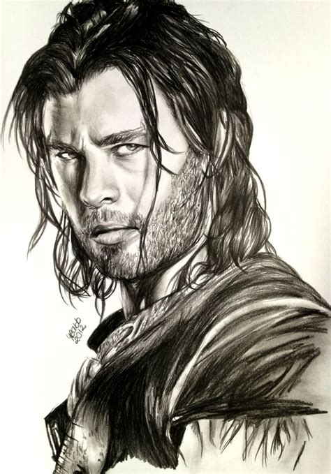 kathy levine dialing with pencils chris hemsworth drawing google search chris hemsworth