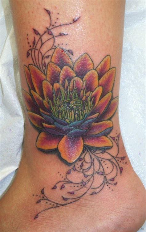 lotus tattoo on ankle 35 cute lotus tattoos on ankle