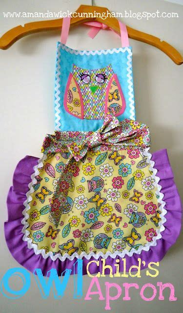 pattern for owl apron owl child s apron tutorial sew it babies kids and