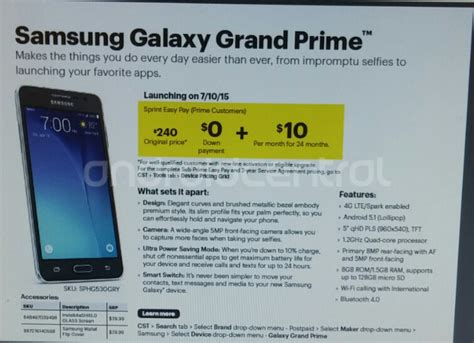 theme store samsung grand prime sprint may start selling the samsung galaxy grand prime on
