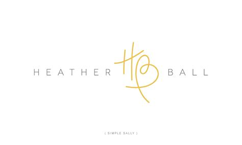 design logo using initials custom initials logo hb for heather ball 187 simple sally