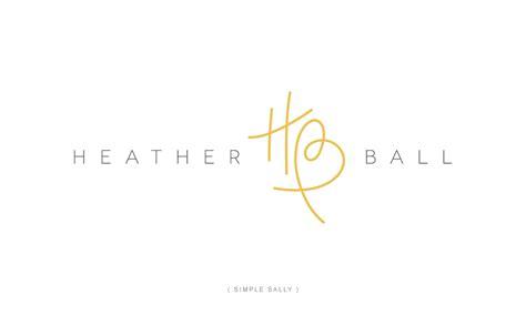 design a logo using initials custom initials logo hb for heather ball 187 simple sally