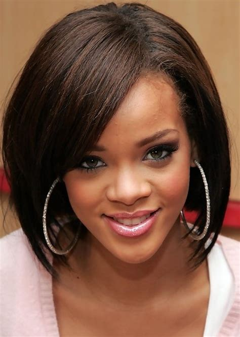 rihanna hairstyles cut rihanna hairstyles sophisticated medium straight haircut