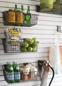 Wall Storage With Baskets Wall Mounted Wire Baskets Pantry Storage Remodelista