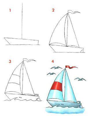 barco dibujos faciles c 243 mo dibujar un velero dibujos f 193 ciles para ni 209 os