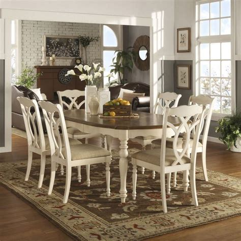 Two Tone Set tribecca home shayne country antique two tone white