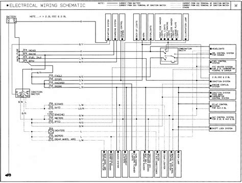 1991 mazda b2600i wiring diagram general schematic b2600i