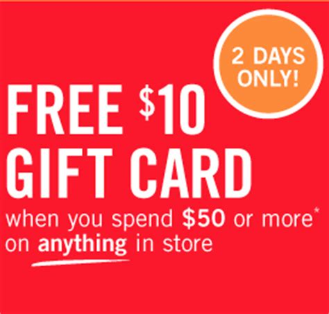 Shoppers Gift Cards - free 10 gift card from shoppers drug mart with purchase of 50 canadian freebies