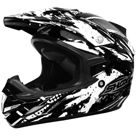 black motocross helmet shox mx 1 duo road atv motocross pit bike mx