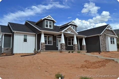 craftsman home with board and batten siding craftsman here s the dirt literally gray craftsman style home with
