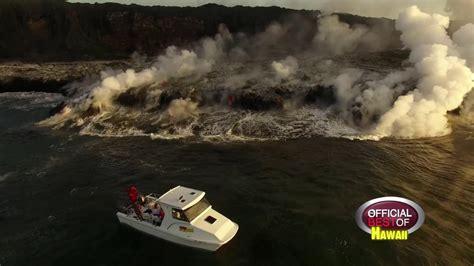 hawaii lava boat tour youtube moku nui lava tours best lava tours hawaii 2016 youtube