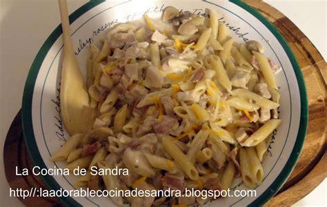 como se cocina la pasta la cocina de sandra pasta penne en salsa alfredo
