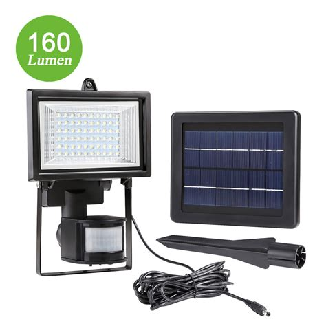 16 Led Solar Floodlight With Pir 160lm Security Light Le Led Solar Flood Lights