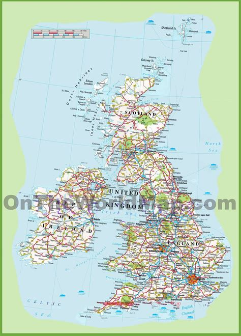 printable road maps uk united kingdom road map