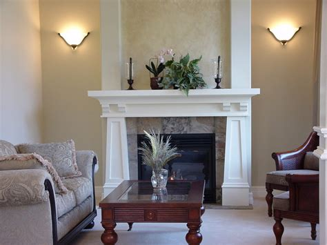 living room mantle craftsman mantel