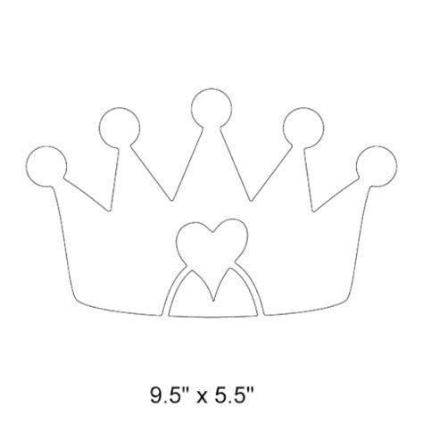 prince crown template