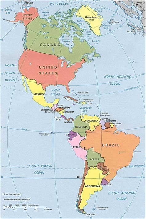 south america states map america political map