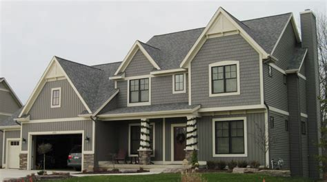 exterior color schemes for house with shingle siding