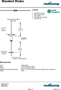 datasheet specifications diode type standard