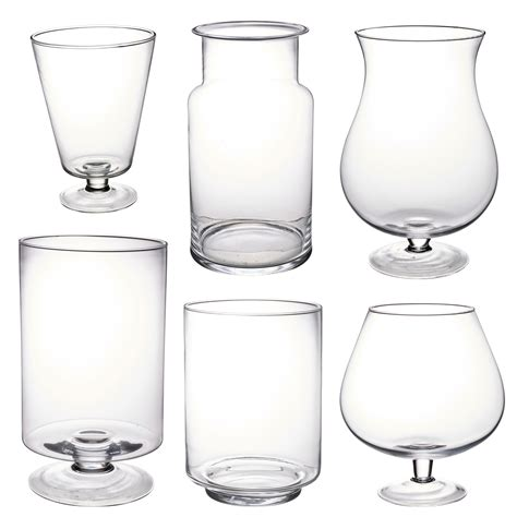 Small Glass Vases Wedding by Large Clear Glass Vase Footed Centrepiece Decorative Flower Display Table Ebay
