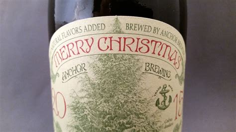 anchor merry christmas happy  year  beer diaries