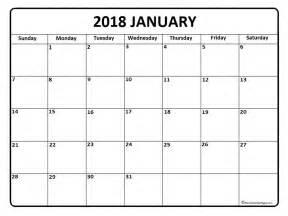 Calendar 2018 Empty January 2018 Calendar January 2018 Calendar Printable